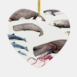 Cachalote and zifios: Whales of the depths Ceramic Ornament