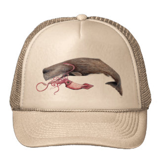 Cachalote cap and giant calamary trucker hat