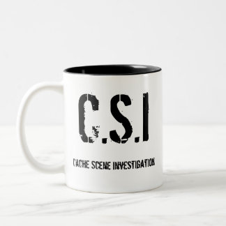 Cache Scene Investigation, C.S.I. Two-Tone Coffee Mug