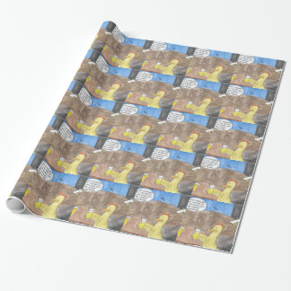 CACKLING CHICKEN WRAPPING PAPER