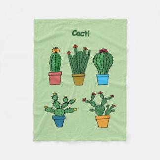 Cacti #2 fleece blanket