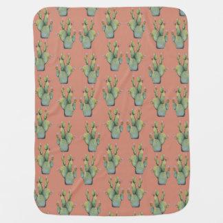 cacti baby blanket