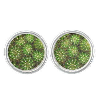 Cacti Cufflinks Silver Plated