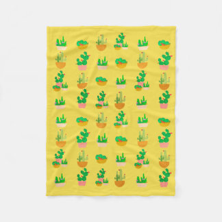 Cacti Festival Fleece Blanket