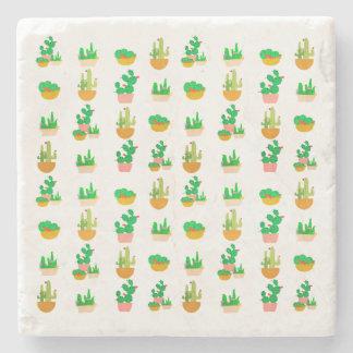 Cacti Festival Stone Beverage Coaster