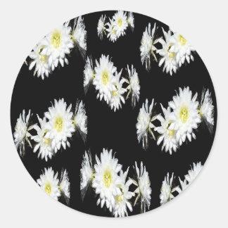 Cacti_Flower_Envy,_ Round Sticker