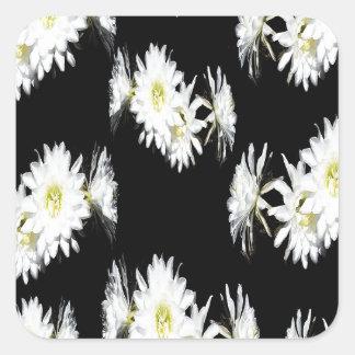 Cacti_Flower_Envy,_ Square Sticker