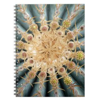 Cacti Macro -- Southwestern pastel style Spiral Note Book