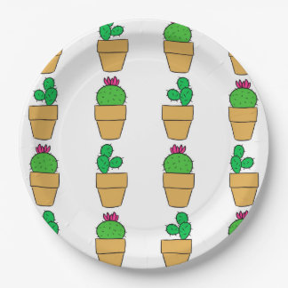 Cacti Paper Plate