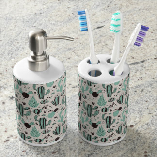 Cacti Soap Dispenser And Toothbrush Holder