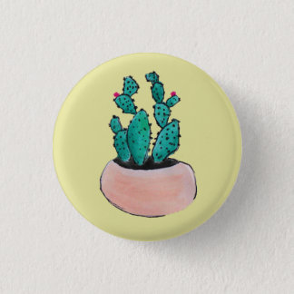 Cactus 1 Inch Round Button