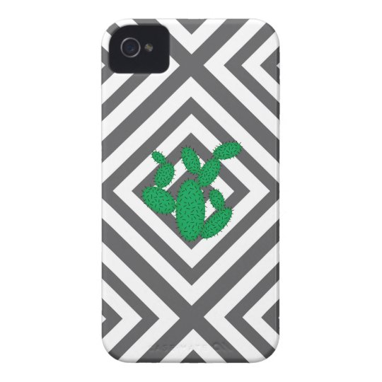 Cactus - Abstract geometric pattern - grey. Case-Mate iPhone 4 Case