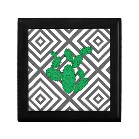 Cactus - Abstract geometric pattern - grey. Gift Box