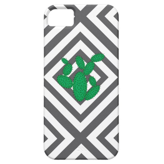 Cactus - Abstract geometric pattern - grey. iPhone 5 Cover
