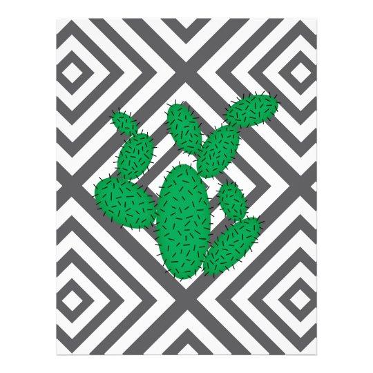 Cactus - Abstract geometric pattern - grey. Letterhead