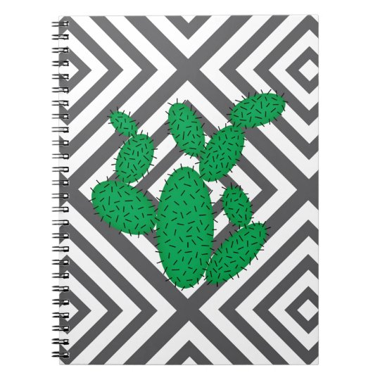 Cactus - Abstract geometric pattern - grey. Notebook