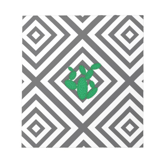 Cactus - Abstract geometric pattern - grey. Notepad