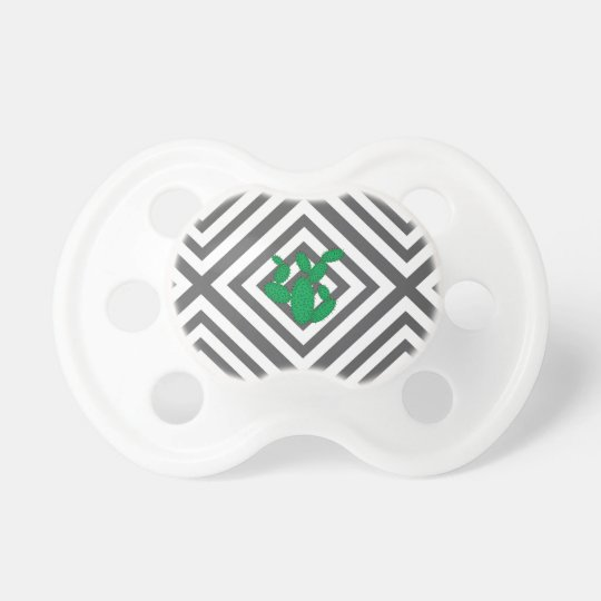 Cactus - Abstract geometric pattern - grey. Pacifier