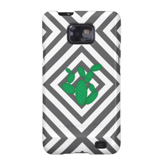 Cactus - Abstract geometric pattern - grey. Samsung Galaxy SII Cover