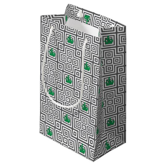 Cactus - Abstract geometric pattern - grey. Small Gift Bag