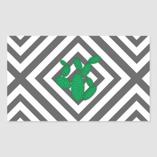 Cactus - Abstract geometric pattern - grey. Sticker