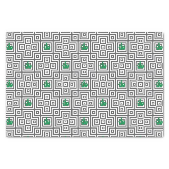 Cactus - Abstract geometric pattern - grey. Tissue Paper