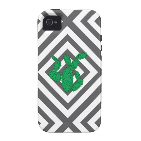Cactus - Abstract geometric pattern - grey. Vibe iPhone 4 Cases