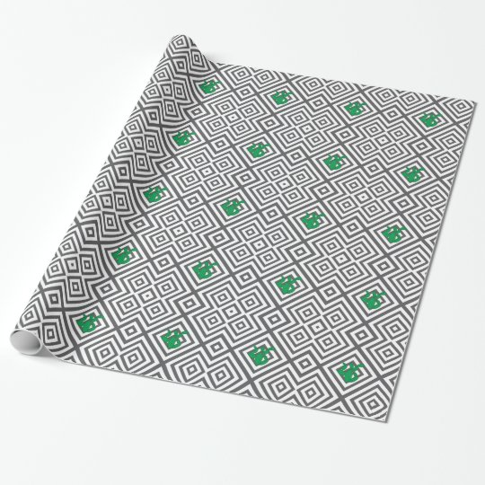 Cactus - Abstract geometric pattern - grey. Wrapping Paper