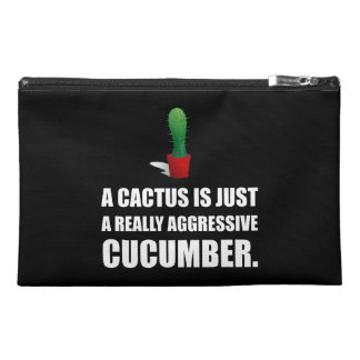 Cactus Aggressive Cucumber Travel Accessory Bag