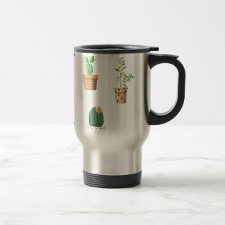 Cactus and Plants Travel Mug