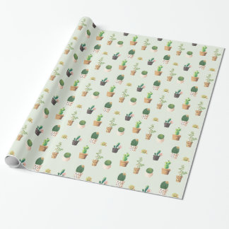 Cactus and Plants Wrapping Paper