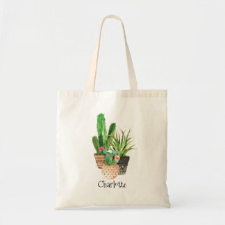 Cactus and Succulents in Pot Tote Bag