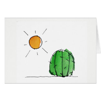 Cactus and Sun Watercolor Noteccard Card