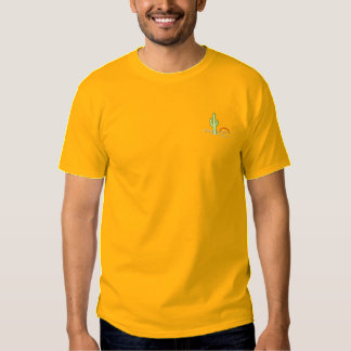 Cactus At Sunset Embroidered T-Shirt