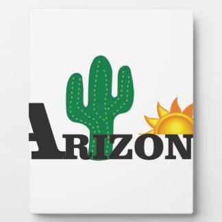 Cactus az plaque