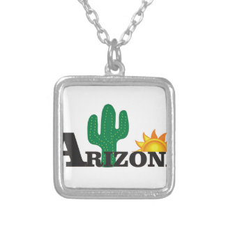 Cactus az silver plated necklace