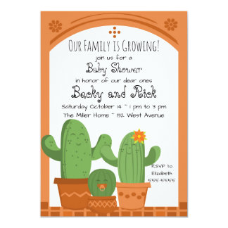 Cactus Baby Shower Invitation