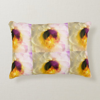 Cactus Bloom Center in White/Yellow Accent Pillow