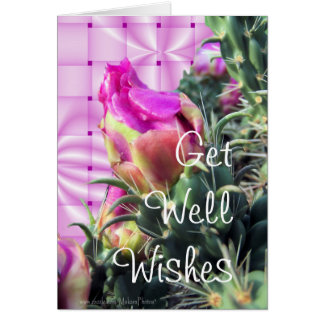 Cactus Bloom GetWell-customize for any occasion Card