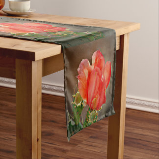 Cactus Bloom in Red Dining Table Runner
