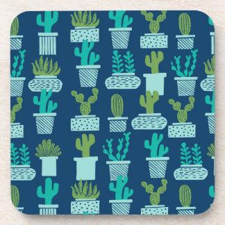 Cactus Blue Terrarium Succulent / Andrea Lauren Coasters