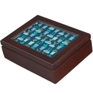 Cactus Blue Terrarium Succulent / Andrea Lauren Keepsake Boxes