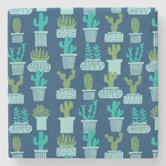 Cactus Blue Terrarium Succulent / Andrea Lauren Stone Coaster