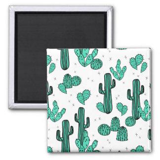 Cactus Cacti Tropic Summer Southwest Andrea Lauren Square Magnet