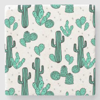 Cactus Cacti Tropic Summer Southwest Andrea Lauren Stone Coaster