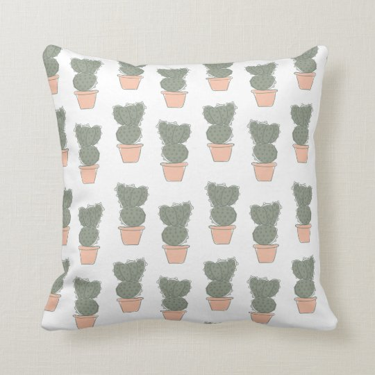 Cactus concept 2 throw pillow