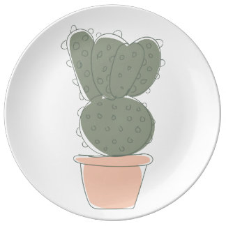 Cactus concept chalkboard plate