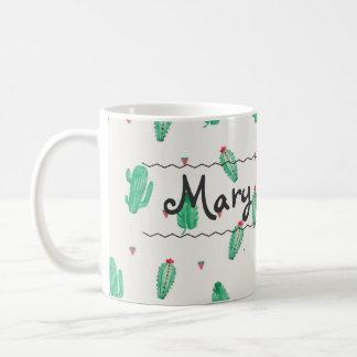 Cactus Custom Name Coffee Mug