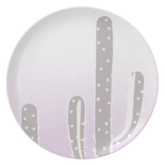 Cactus Desert Sunset Design Dinner Plates