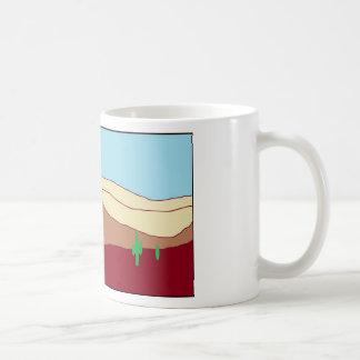 Cactus desert vista coffee mug